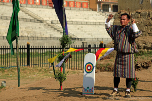 Archer and Target in Bhutan